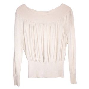 Free People Balloon Sleeve Sweater with Banded Hem